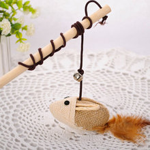 Mouse For Cat Cats Toy Mouse Interactive Toy Pet Supplies Cats Toy Funny Cat Stick Mouse Wood Rod Funny Cat Pet Toy Cat Favorite все цены