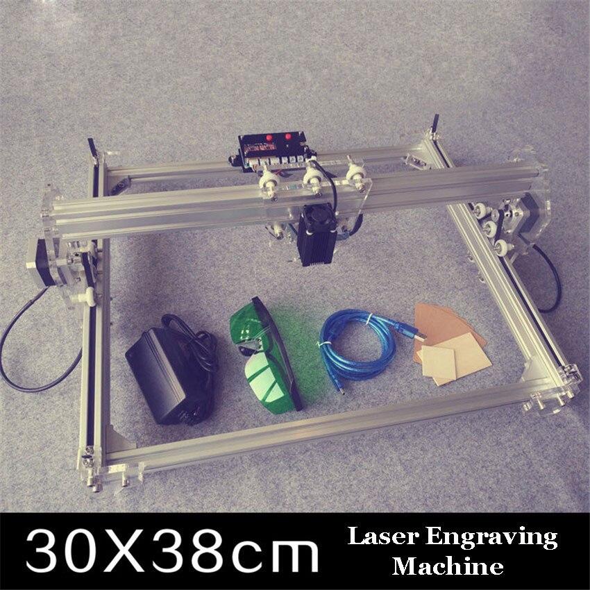 1PC 300MW toy level DIY laser engraving machine Working Area 30X40cm Laser Engraver