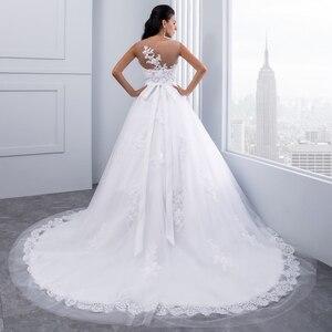 Image 5 - Miaoduo бальное платье, свадебные платья 2020, женское свадебное платье с кристаллами и поясом, свадебное платье, новинка