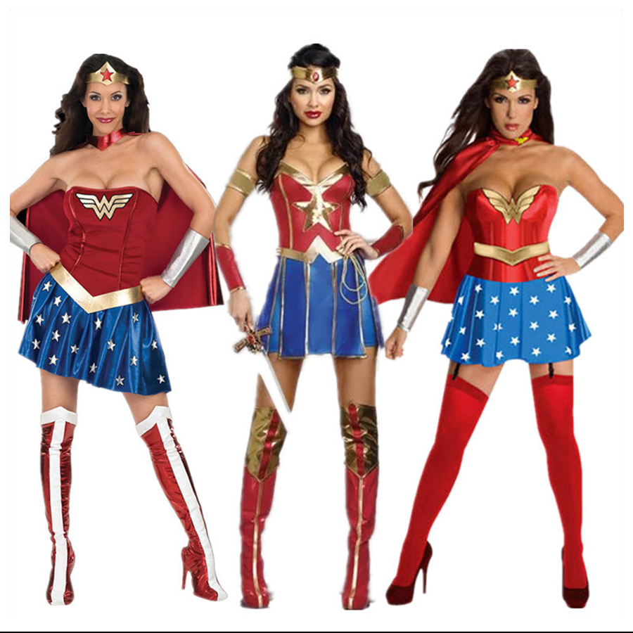 Wholesale Super Girl Ladies Wonder Woman Costume Fancy -3624
