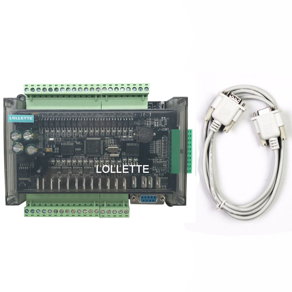 FX3U LE3U 32MT 6AD2DA 16 input 16 transistor output 6 analog input 2 analog output plc