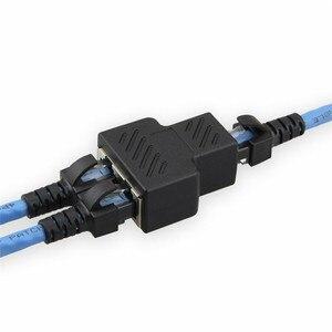 Image 5 - 1 PCS RJ45 ספליטר מתאם 1 עד 2 יציאות נקבה יציאת LAN Ethernet רשת ספליטר מתאם עבור מחשב מחבר