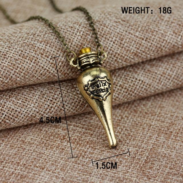 Felix Felicis Potion bottle necklace for men & women