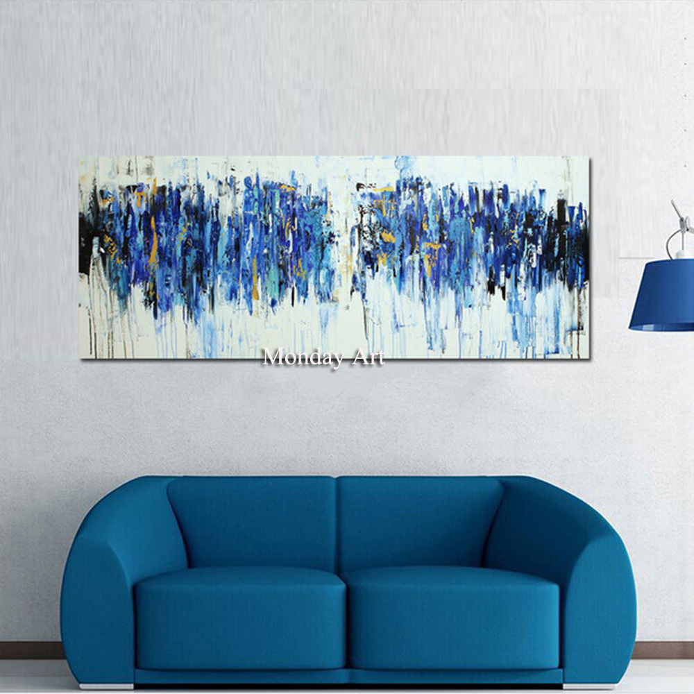 100-Hand-Painted-Turquoise-Oil-Painting-Modern-Abstract-Canvas-Paintings-Home-Painting-Calligraphy-On-Wall-Art