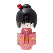 Doll Japanese Kokeshi wooden pattern Kimono Rose