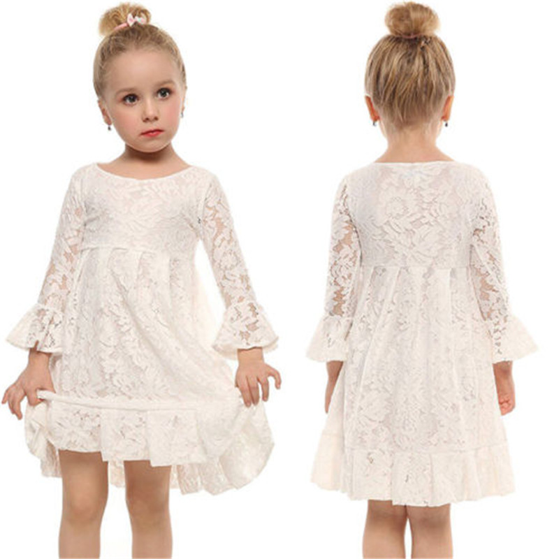 Toddler Baby Girl Clothes Kids Lace Dresses Princess Wedding Prom Ball Gown Party Formal Tutu Dress Sundress