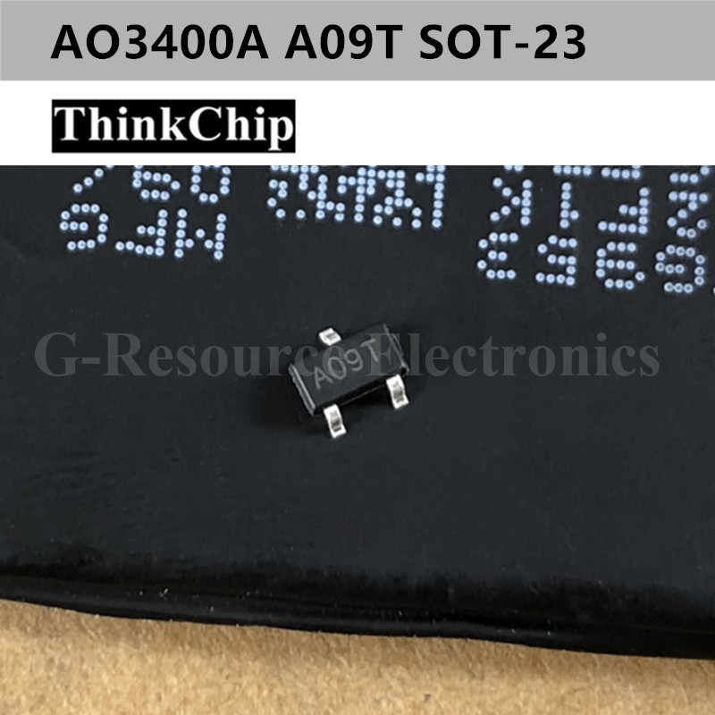 Free Shipping 50 Pcs / Lot AO3400A A09T SOT-23 AO3400 N-Channel 30V 5.7A (Ta) 1.4W (Ta) SMD Mosfet Transistor New Original