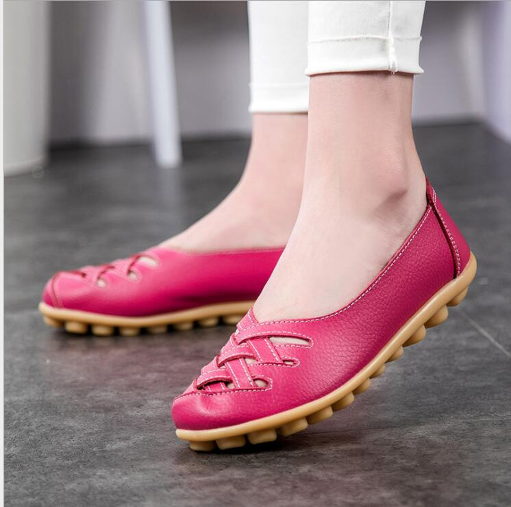 Casual flat peas shoes female leatherCasual flat peas shoes female leather