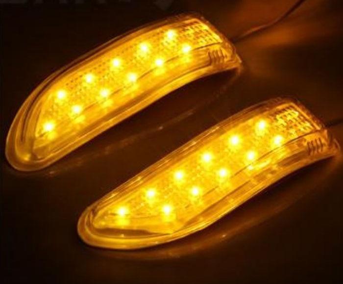 AUTO car-styling 2x Amber SMD 13LED Truck Strobe Rear View Mirror Lights HID ERROR FREE Car Side Wedge car stylingfeb16