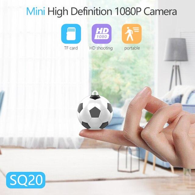 TRAVOR SQ20 Nova Esférica Pequena Câmera Mini Câmera 1080 P Esporte Mini DV Full HD Menor DVR Camcorder