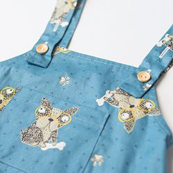 B2019002-4 2019 Blue Doggy baby boy coming home outfit (5)_