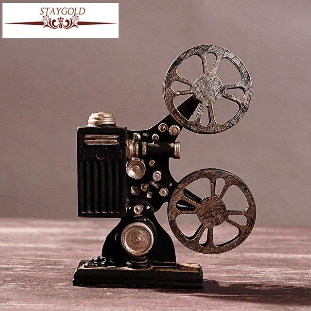 Hot Selling Creative Vintage Projector Model Retro Resin Crafts Bar