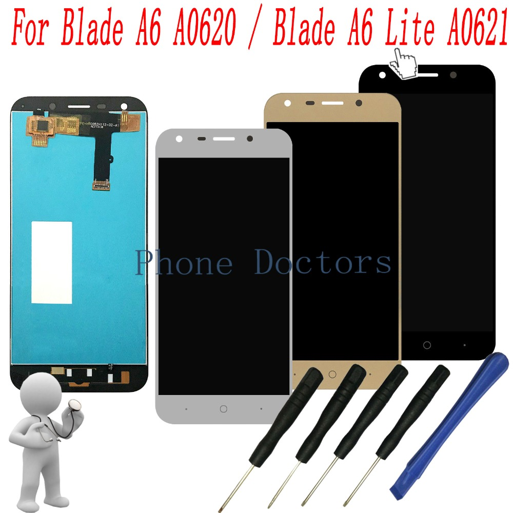 5.2 inch For ZTE blade A6 A0620 / blade A6 Lite A0621 Full LCD DIsplay + Touch Screen Digitizer Assembly Replacement Free Tools