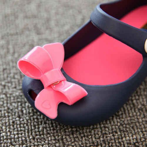2019 bebé Bebé Zapatos de verano de los niños bebé niños niñas sandalias de princesa zapatos antideslizante de plástico arco hebilla zapatos de gelatina 1-6Y