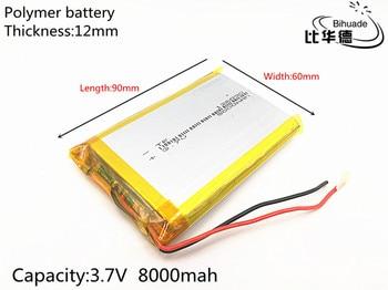 126090 3.7 v 8000 mAh agli ioni di litio batteria ricaricabile per il GPS BANCA di POTERE