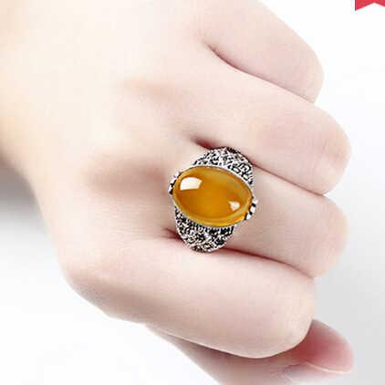 แหวน+++ 412โกเมนแหวนนิ้วหญิงย้อนยุคโมราสีเขียวเครื่องประดับแหวนเปิด