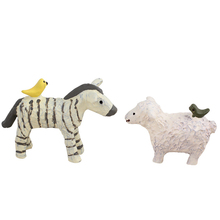 Mini Zebra Sheep Miniatures Model Cartoon Resin Craft Home Decoration Accessories Childrens Toy Birthday Gifts