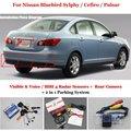 Для Nissan Bluebird Sylphy/Cefiro Автомобилей Датчики Парковки + Задний Камера вид = 2 в 1 Видео/Bibi Парковка система