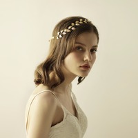 Unique Vintage Gold Silver Leaves Hair Vintage Hairbands Wedding Hair Accessories O816