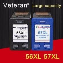 Сменный чернильный картридж Veteran 56XL 57XL для hp 56 57 C6656a C6657a Deskjet 450 450ci 450wbt F4140 F4180 PSC1350