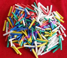 цена на 500pcs/lot 5.0mm 4.5cm length pvc heat shrink tube ratio 2:1 sleeving