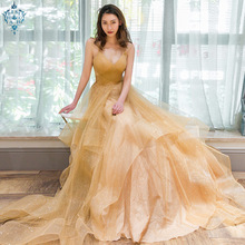 цена Ameision New Sexy Backless Straps Sequins Evening Dresses 2019 Tulle Sleeveless Robe De Soiree Women Party Gowns Prom Dresses