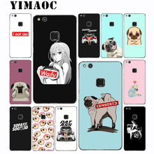 цена на YIMAOC Stance Girl Car Dog Soft Case for Huawei Mate 20 10 P30 P20 P10 P9 P8 2015 2016 2017 P Smart Lite Pro
