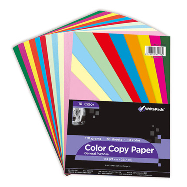 New Color Paper Writepads Series 10 Colors 70 Sheets Diy 110g