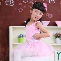 Free Shipping Cut Sequin Butterfly Professional Ballet Tutu Gymnastics Leotard Girl Dance Costum Vest Baby Tutu