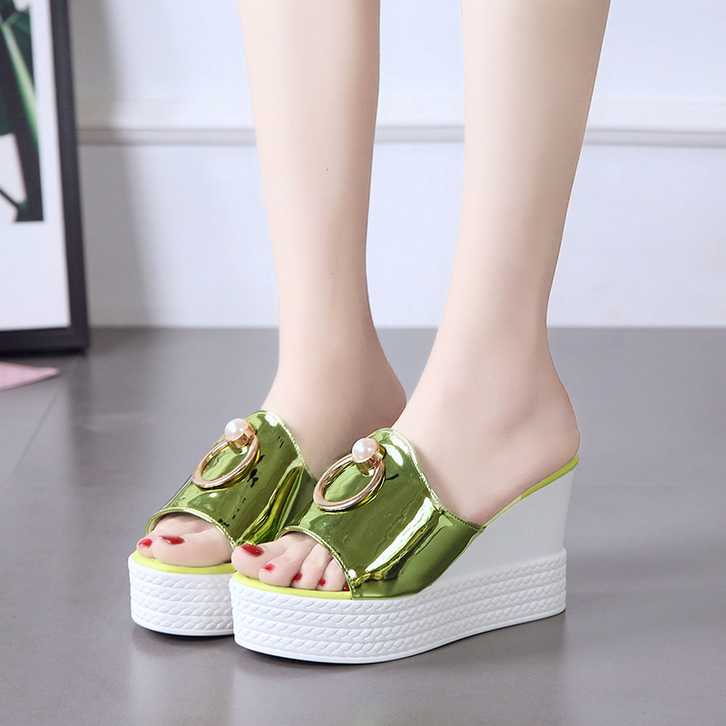 Platform Wedges Sandals Women High-Heels Slippers Female New-Style Summer Fashion F90021