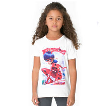 2017 camiseta de las muchachas milagrosa mariquita tees niños ropa chicas superpoderosas super hero girls princesa tops traje(China (Mainland))