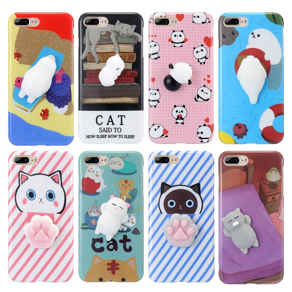Cover iphone 5 squishy - Kisscase For Iphone 7 7 Plus Iphone 5s 5 Case Cute Squishy 3d Cartoon Phone Case
