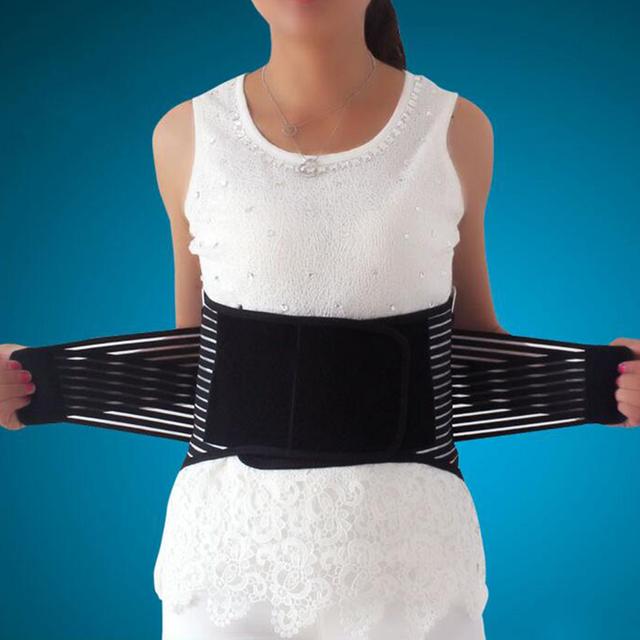 Alta Qualidade Respirável Cinto Elástico Da Cintura Cintura Lombar Brace Suporte Ajustável Nova