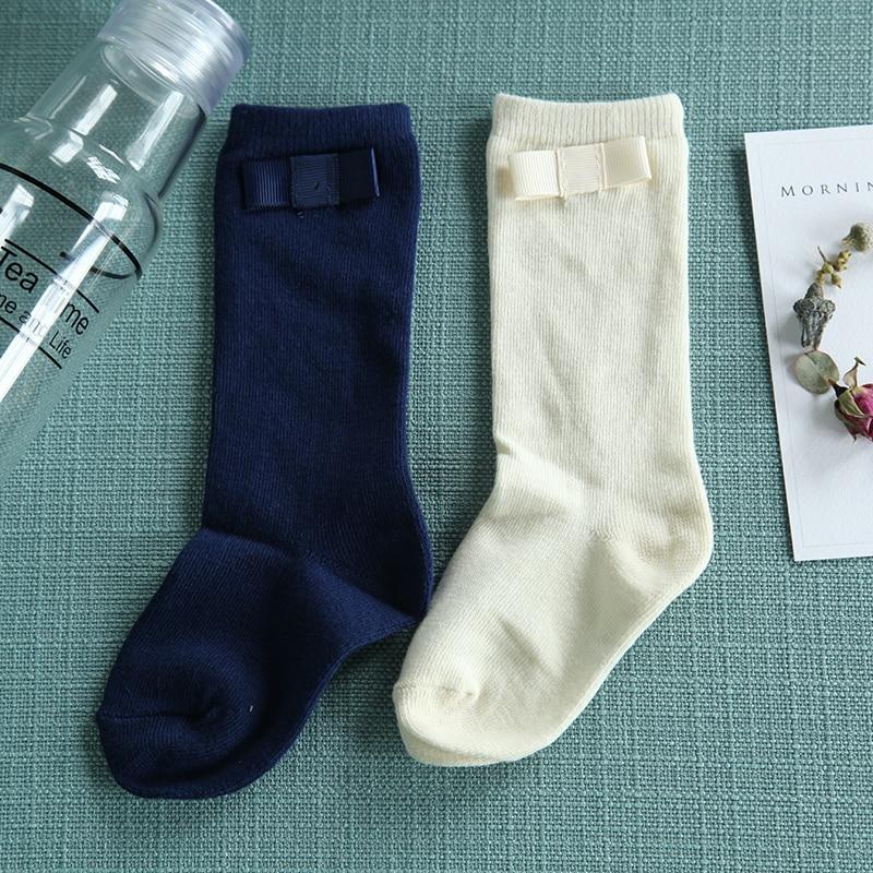 Baby-Girls-Knee-Socks-with-Bows-Girls-Princess-Bowknot-Socks-Kids-School-Socks-Long-Tube-Childrens-Leg-Warmer-Creamy-White-Blue-5