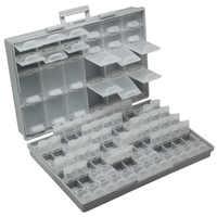 Aidetek smd de resistencia SMT condensadores surtido kit de caja laboratorio de electrónica de los casos y los organizadores de la caja de almacenamiento de plástico BOXALL96