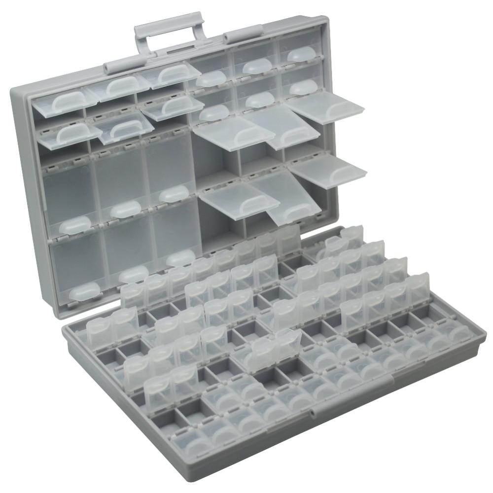 Aidetek Smd Storage SMT Resistor Capacitors Assortment Box Kit Lab Electronics  Cases & Organizers Storage Box Plastic BOXALL96