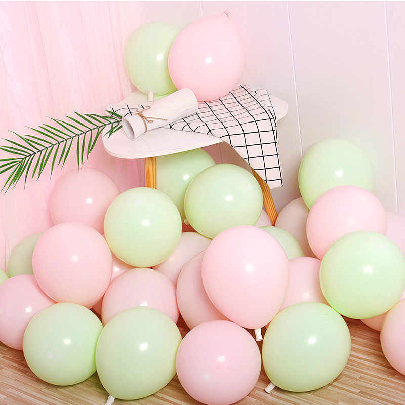 10pcs 12inch 2.2g Inflatable Confetti Balloon Latex Green Birthday Balloons 18 30 50 Anniversary Wedding Decoration Party Favors