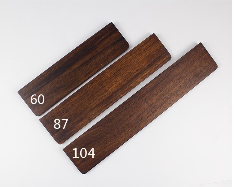 Wooden Wrist Rest Ebony Pine Wood  For Mechanical Keyboards Gh60 Xd60 Xd64 Poker 87 104 Xd84