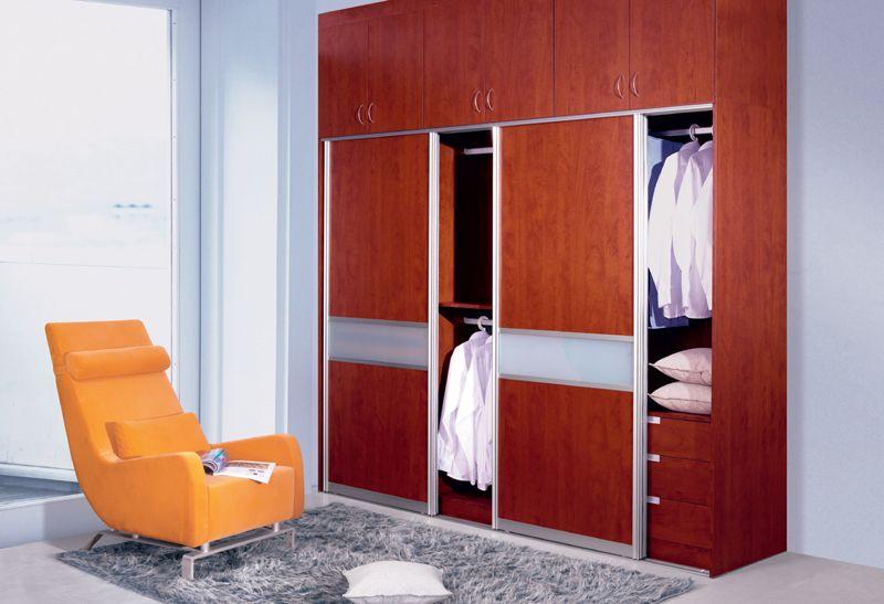 Sliding door wardrobe closet up to ceiling