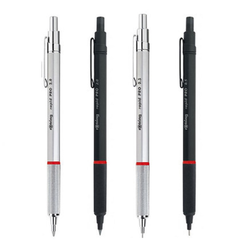 Original Germany rotring Rapid pro  mechanical pencil 0.5mm &0.7mm&2.0mm with metal telescopic pen tip better than rotring 600 rotring rapid pro metal mechanical pencil