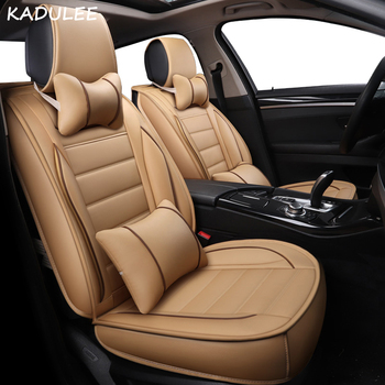KADULEE pu leather universal car seat covers for Volkswagen all models VW polo touareg touran Variant magotan golf JETTA passat