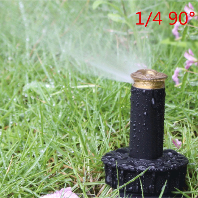 "Image 4 - 1PC 90 360 Degree Pop up Sprinklers Plastic Lawn Watering Sprinkler Head Adjustable Garden Spray Nozzle 1/2"" Female Thread-in Garden Sprinklers from Home & Garden"