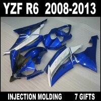 Factory outlet for YAMAHA R6 08 09 10 11 12 13 white blue black fairings high grade YZF R6 2008 2009 2013 fairing set JHN75