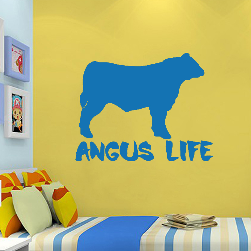 Hot Angus Life Funny Christmas Dairy Cow Animal Prints Vinyl Decals ...