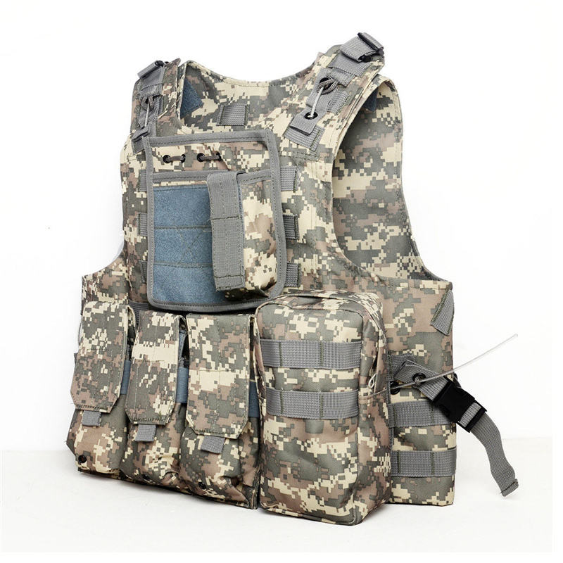 Camouflage Hunting Military Tactical Vest Wargame Body Molle Armor Hunting Vest Multifunction CS Outdoor Equipment 5 Colors 5 colors camouflage hunting military tactical vest wargame body molle armor hunting vest cs outdoor accessories