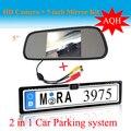 Promoção 5 '' HD ecrã do Monitor espelho para câmara de visão traseira europeia licença noite placa Vision Backup estacionamento câmera reversa