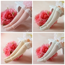 Doll's Stocking Sock Clothing Blyth Barbies Accessories Lace White for Azone 1-Pair Pink