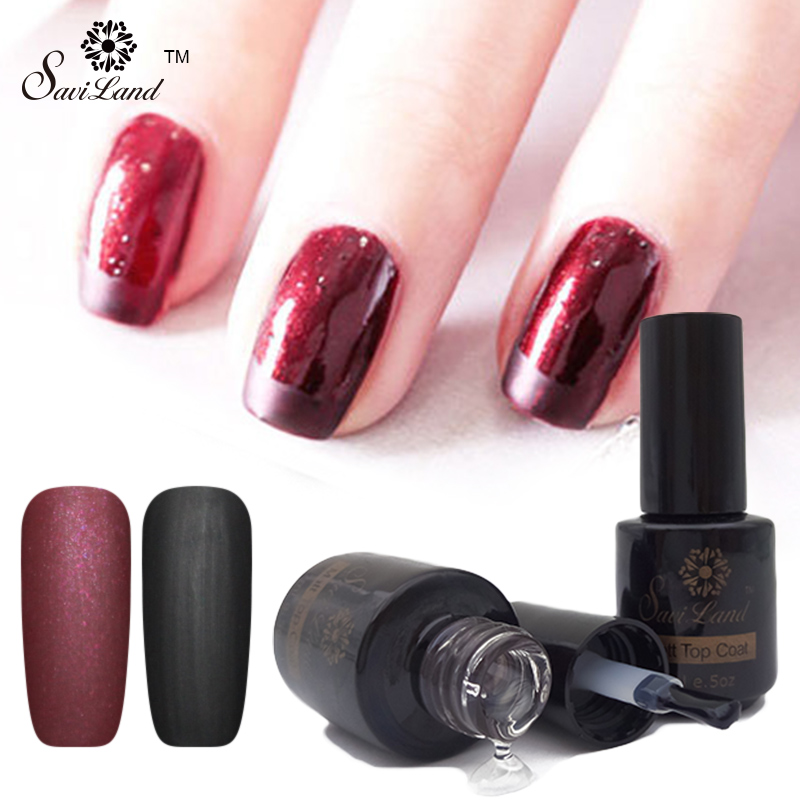 ⊹Saviland 1pcs Fingernails Matte Top Coat Gel Lacquer Matt Nails ...