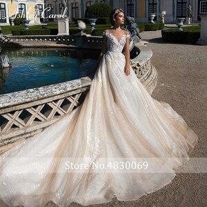Image 3 - Ashley Carol A Lineชุดแต่งงาน2020 Elegant Sweetheartหรูหราลูกปัดลูกไม้Appliques Tulleเจ้าสาวเจ้าหญิงชุดเจ้าสาว