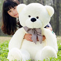 Cute 140CM Meter White/Brown Tie Bear Large Bear Giant Teddy Bear Plush Toy Gift Plush Ted Man's Movie Ted Bear High Quality
